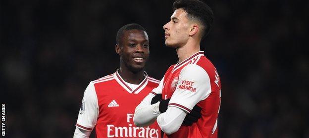 Martinelli, 19, scored 10 times in his breakthrough season for Arsenal last term