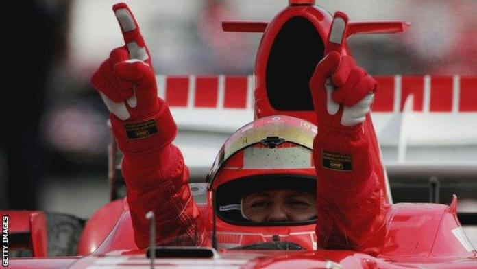Seven-time F1 champion Michael Schumacher won his 91 races between 1992 and 2006