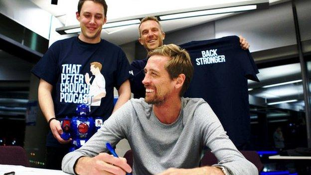 Image Result For That Peter Crouch Podcast Is Back And Crouchie Has Written His Own Press Release