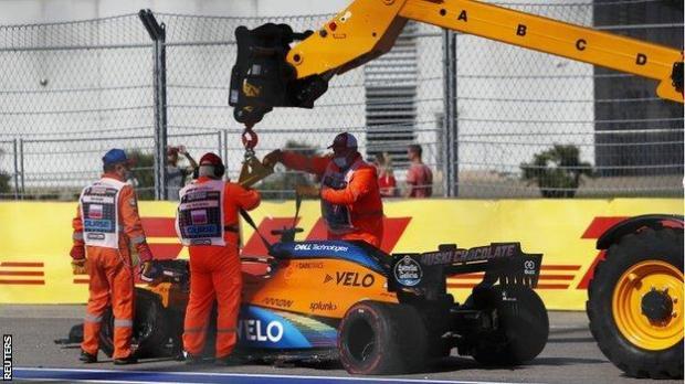Carlos Saniz's car is towed away