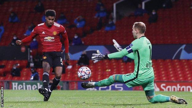 Man Utd 5-0 RB Leipzig: Mason Greenwood, Marcus Rashford hat-trick, Anthony Martial score - BBC Sport