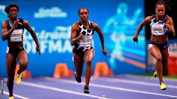 Dina Asher-Smith races