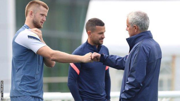 Eric Dier and Jose Mourinho