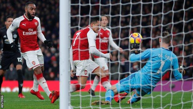 In what is possibly one of the easiest man of the match decisions in the history of BBC Sport, David De Gea gets the nod. He provided resistance when Arsenal chased the game and made 13 saves, none more impressive than the double-save from Alexandre Lacazette and Alexis Sanchez.