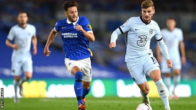 Timo Werner in action for Chelsea