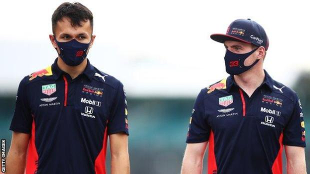 Alex Albon and Max Verstappen