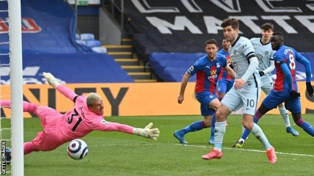 Kai Havertz scores for Chelsea at Crystal Palace