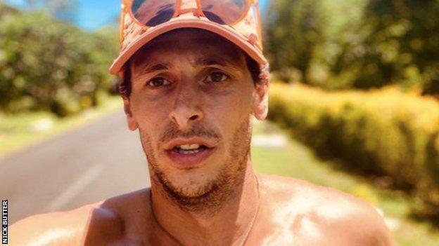 Nick Butter selfie, running in Samoa