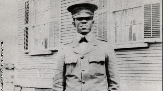 Fritz Pollard served as physical director of the YMCA unit at Camp Meade, Maryland in 1918.