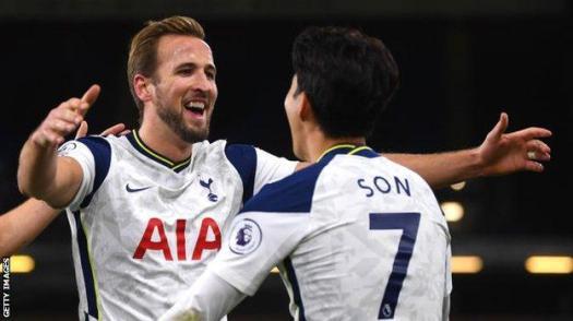 Tottenham strikers Harry Kane and Son Heung-min