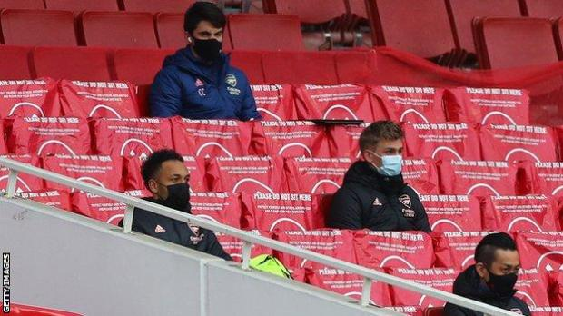 Pierre-Emerick Aubameyang was not used from the bench by Arsenal manager Mikel Arteta