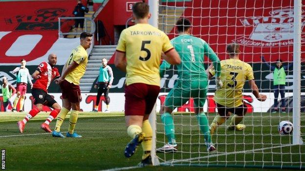 Nathan Redmond scores against Burnley