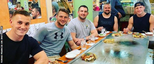 Tomas Francis' Instagram shot of Hiroshima restaurant