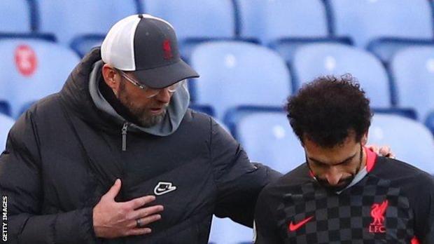 Liverpool manager Jurgen Klopp (left) and forward Mohamed Salah