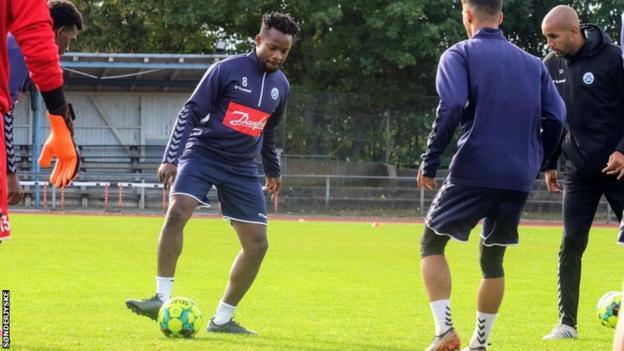 Nigeria's Ogenyi Onazi training at Danish club SønderjyskE