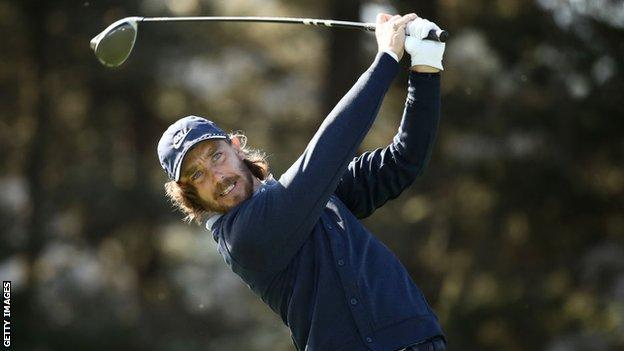 Tommy Fleetwood playing at the 2020 US PGA Championship