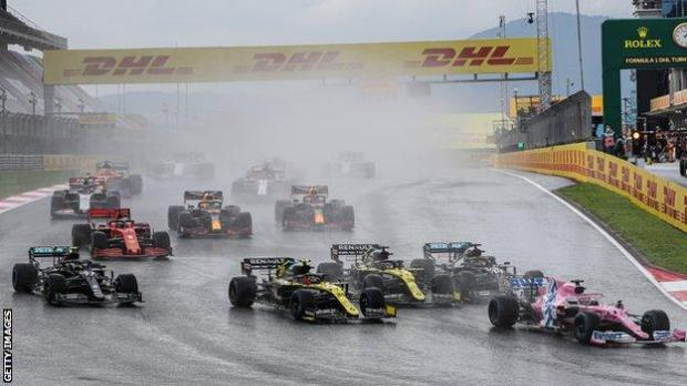 Action from the 2020 Turkish Grand Prix