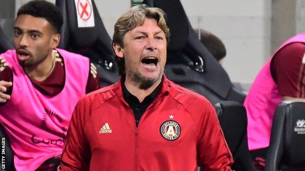 Heinze won only two of his 13 games in charge of the MLS club