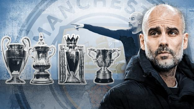 Pep Guardiola attempting Manchester City quadruple