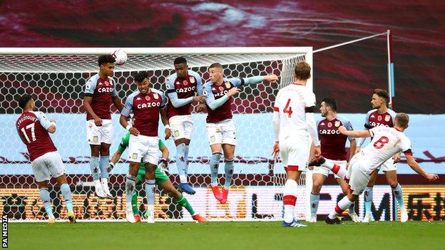 James Ward-Prowse (front right) scores his side's third goal of the game