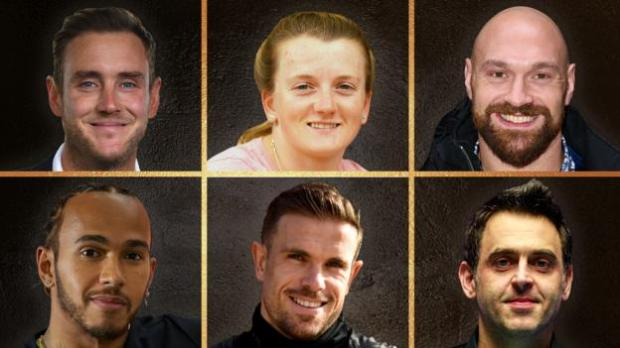 The contenders for BBC Sports Personality of the Year