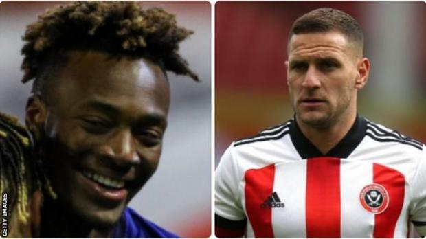 Chelsea's Tammy Abraham (left) and Sheffield United's Billy Sharp