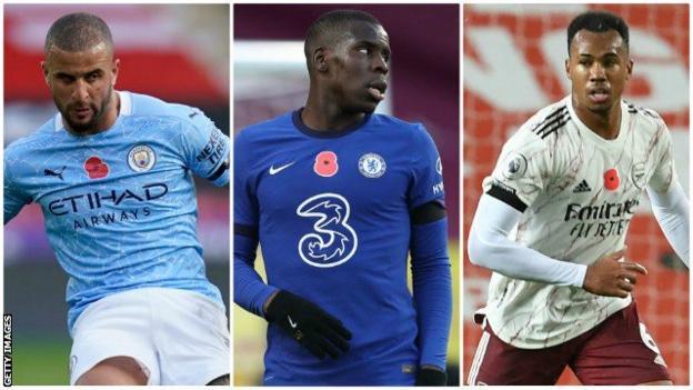 Kyle Walker (Manchester City), Kurt Zouma (Chelsea), Gabriel (Arsenal)
