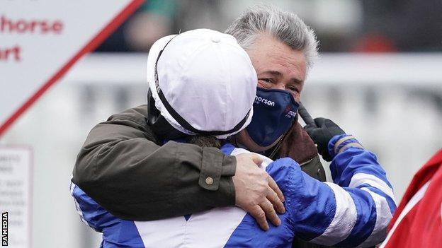Bryony Frost and Paul Nicholls