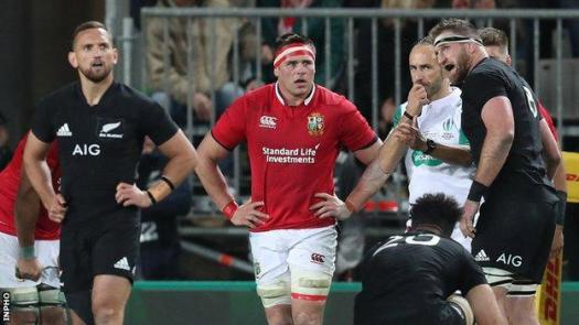 CJ Stander in action for the British and Irish Lions in the third Test against New Zealand in 2017