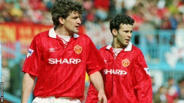 Mark Hughes and Ryan Giggs were Manchester United team-mates in the 1990s
