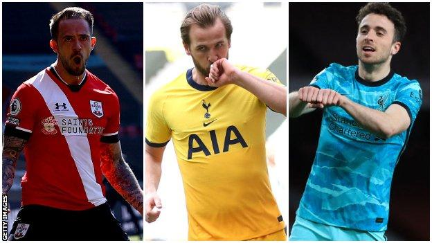 Danny Ings, Harry Kane and Diogo Jota