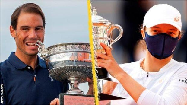Rafael Nadal and Iga Swiatek