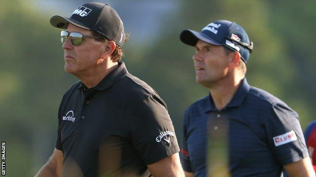 Padraig Harrington teamed up with Phil Mickelson in the first two days of the recent PGA Championship of the United States which the 50-year-old American won.