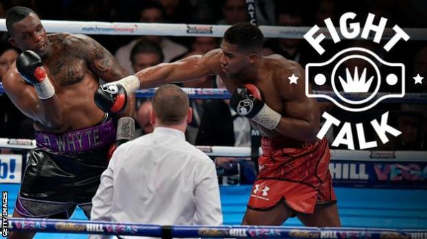 British heavyweight boxers Dillian Whyte and Anthony Joshua