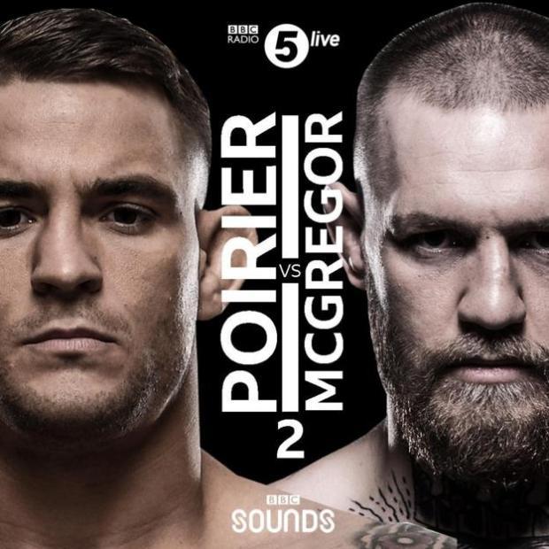 Promo graphic for Conor McGregor v Dustin Poirier