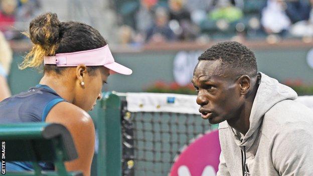 Naomi Osaka avec l'ancien entraîneur Jermaine Jenkins