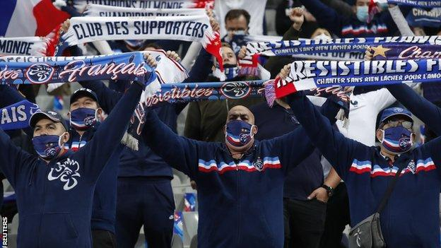 France fans at Stade de France