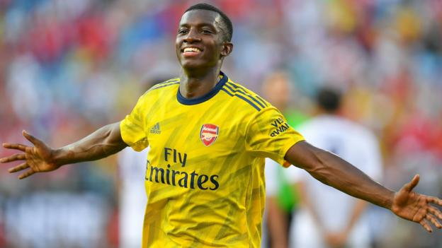 107961065 gettyimages 1156966067 - Eddie Nketiah scores twice as Arsenal beat Fiorentina on US pre-season tour