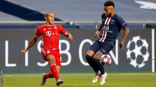Thiago Alcantara in action during the Champions League final win over Paris St-Germain