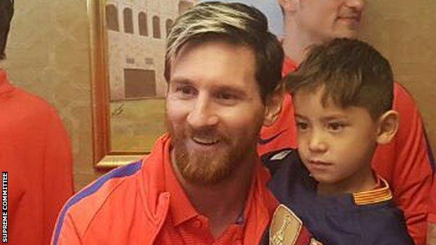 Lionel Messi and Murtaza Ahmadi