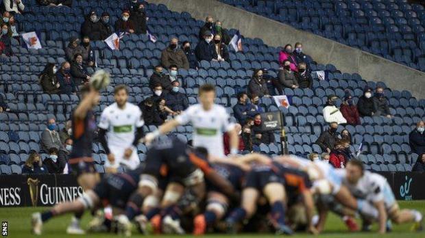 Edinburgh v Glasgow Warriors in August 2020