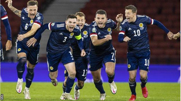 Kenny McLean's penalty sparked wild celebrations among the Scotland players