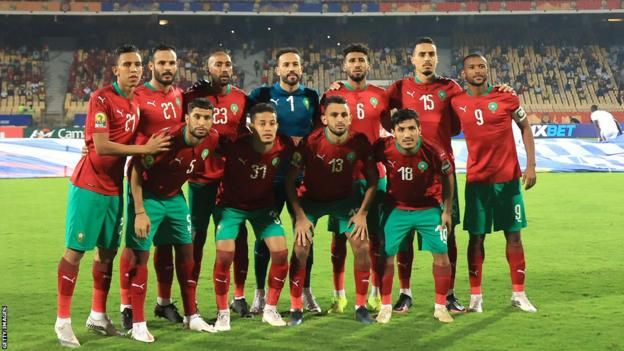 Morocco before the 2020 African Nations Championship (CHAN) final against Mali