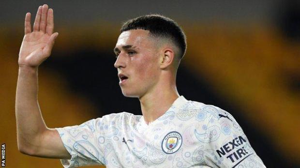 Man City forward Phil Foden