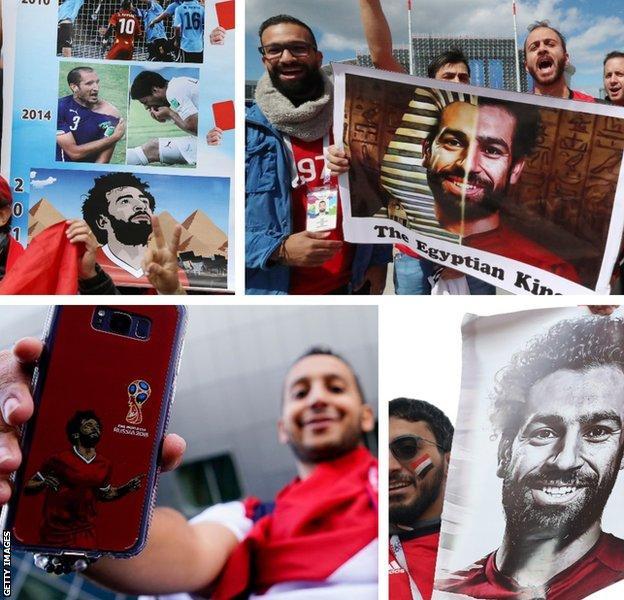 Salah fans in Russia