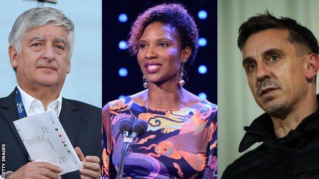David Bernstein, Denise Lewis and Gary Neville