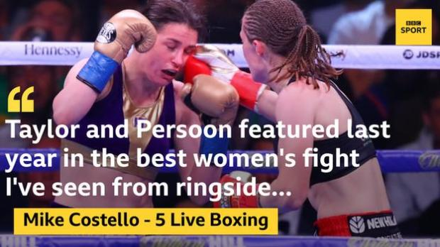 Delfine Persoon punches Katie Taylor