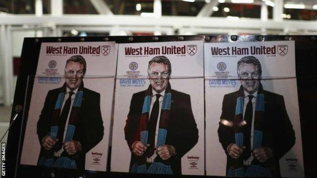 David Moyes on West Ham programmes
