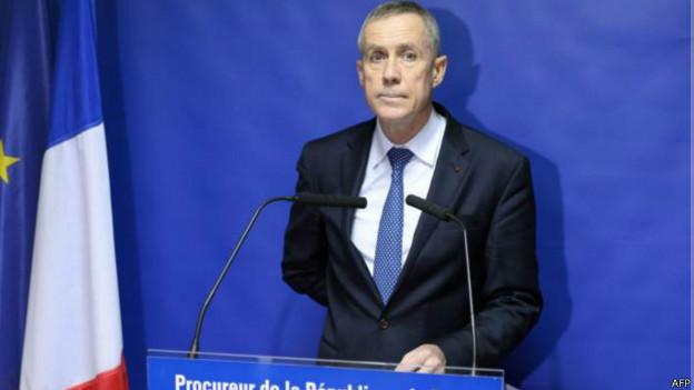 Trưởng công tố viên Cộng hòa Pháp Francois Molins.