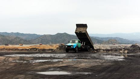 A coal mine in Baotou (Credit: Liam Young/Unknown Fields)
